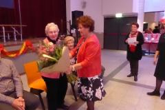 Sophie van Heel-Smeets is 40 jaar lid van het koor