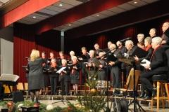 Het koor op de bühne