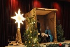 Maria en Jozef in de kribbe