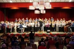 En dan: optreden van het 200 personen tellende gelegenheidskoor