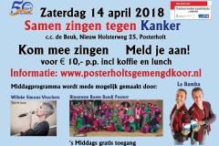 Poster van de actie Samen zingen tegen kanker