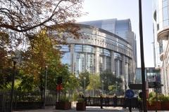Aankomst bij gebouw Europese Commissie